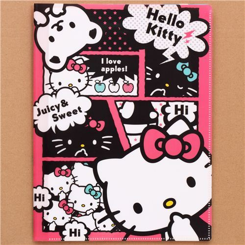 Sanrio Hello Kitty apple 10-pocket A4 /A3 file folder