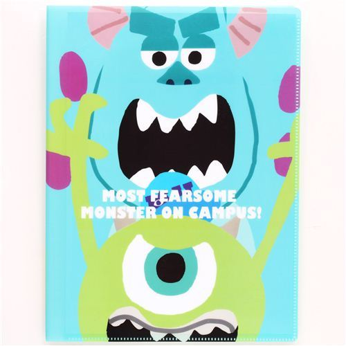 blue Monsters University 10-pocket A4 /A3 file folder
