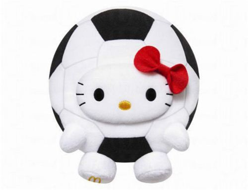 McDonald's K League Hello Kitty soccer ball plush