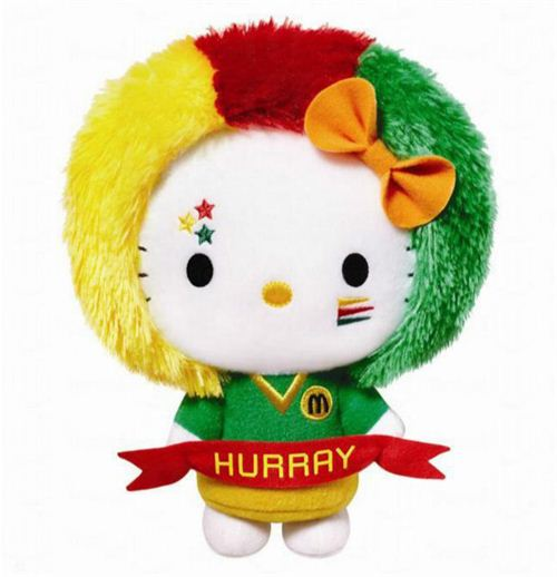 McDonald's K League Hello Kitty fan plush