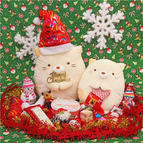 Sumikkogurashi's shy cat Neko picked her favorite Christmas presents from our shop