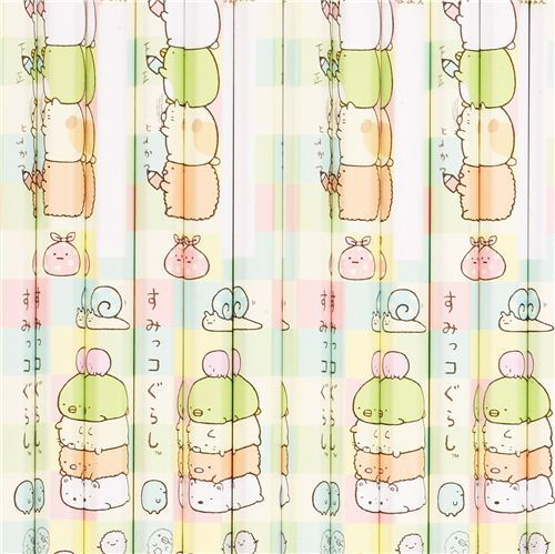 Sumikkogurashi stacked animals pencil set 12pcs from Japan