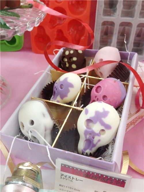 For these chcolate skulls even different colours were used