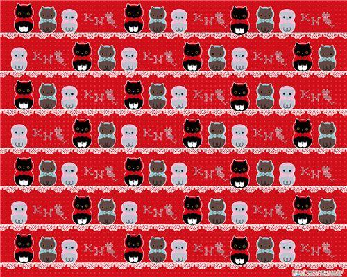Super cute Kutusita Nyanko matryoshka wallpapers