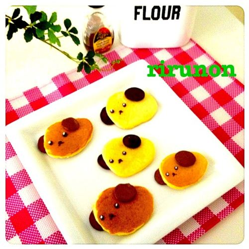 Mameshiba pancakes uploaded by rirunon on SnapDish