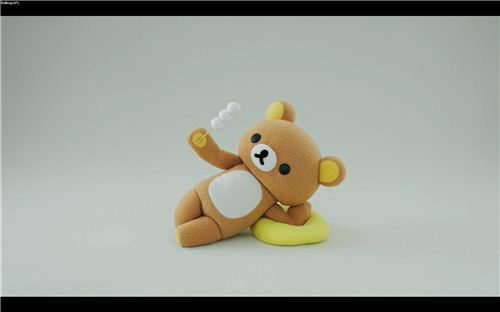 In this movie Rilakkuma eats Mochi