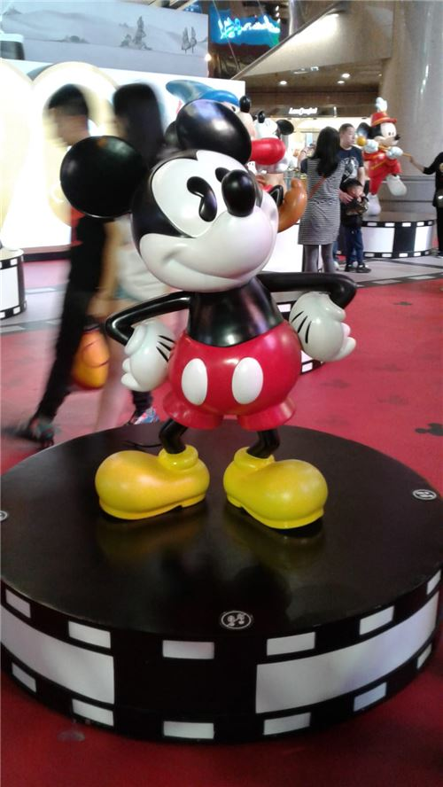 Mickey looks very pleased here!