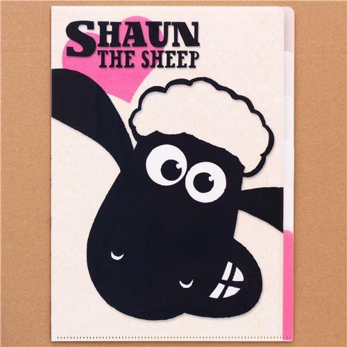 Shaun the Sheep heart 5-pocket A4 file folder