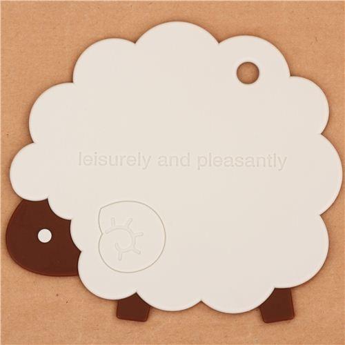 kawaii sheep animal silicone mat coaster from Japan