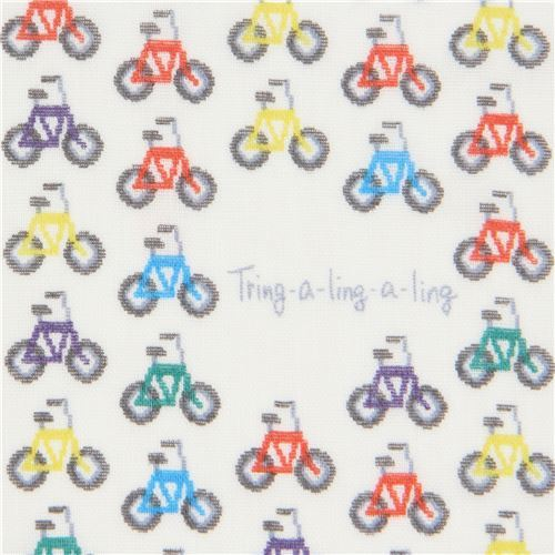 cream double gauze bicycle transport vehicle fabric from Japan