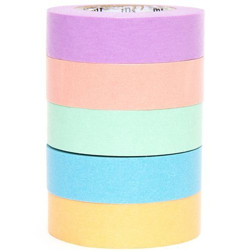 mt Washi Masking Tape deco tape set 5pcs with 5 colors
