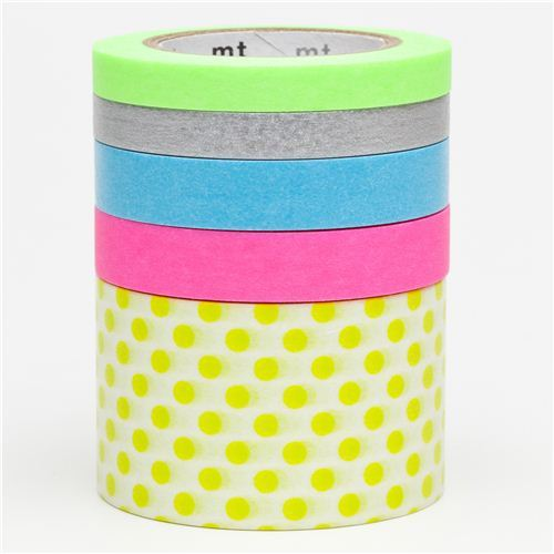 mt Washi Masking Tape deco tape set 5pcs with dots