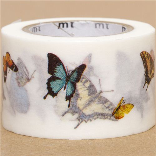 wide mt Washi Masking Tape deco tape with butterfly