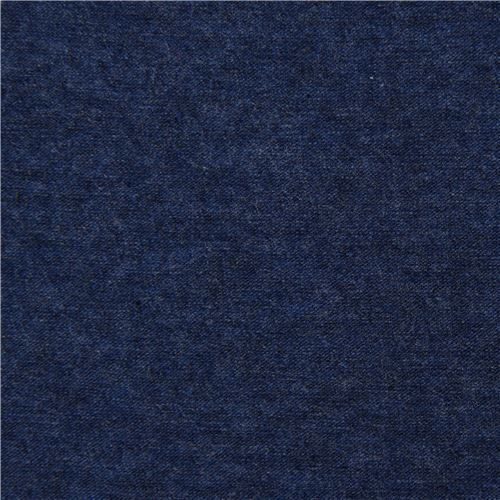solid dark blue Navy Robert Kaufman knit fabric Laguna Jersey Heather