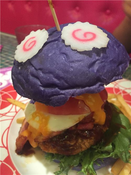What a creative burger!