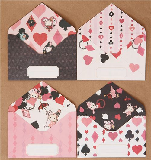 San-X Sentimental Circus letter set diamonds hearts spades