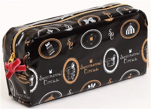 black Sentimental Circus pencil case from San-X