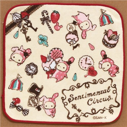 cream Sentimental Circus towel rabbit big top
