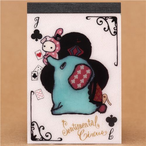 kawaii Sentimental Circus Mouton clubs mini Note Pad