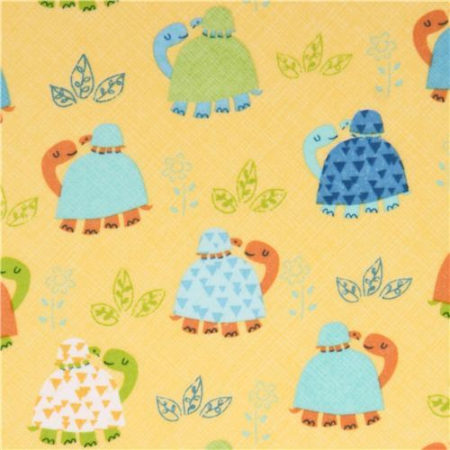 yellow turtle Africa animal flannel fabric Timeless Treasures USA