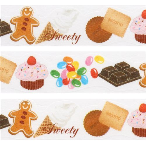 white die-cut sweet treat paper Masking Tape deco tape by Japan