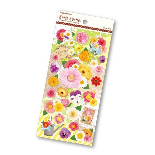 cute colorful flower rose sunflower stickers by Mind Wave