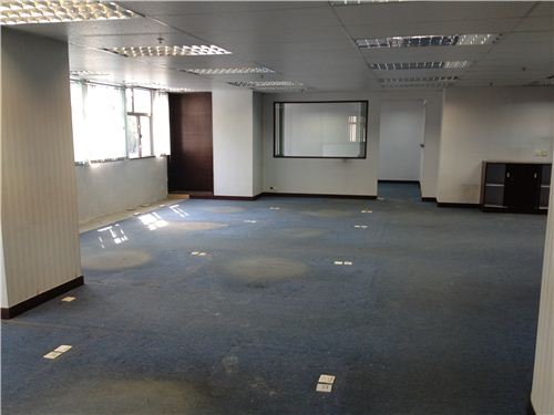 What a huge office area with 2 separated little offices