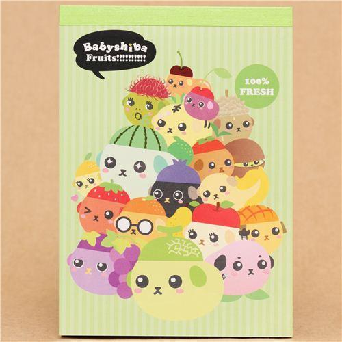 Mameshiba green Babyshiba fruit bean dog Memo Pad