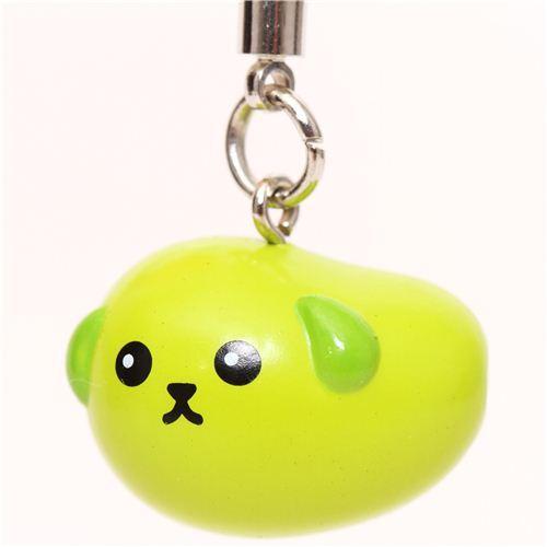 cute Dentsu green Mameshiba bean dog charm