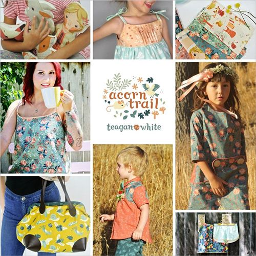 Examples of what to sew with birch's collection Acorn Trail, photo from birch.com