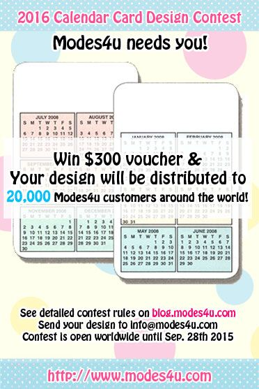 Win 300USD modes4u voucher in our 2016 calendar card design contest