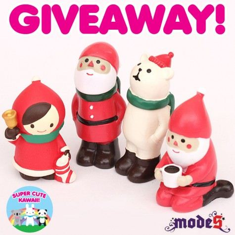 Win these cute Decole Christmas Figurines on Super Cute Kawaii