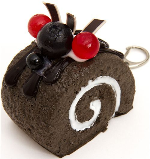 big chocolate cake squishy cellphone charm