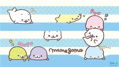What a cute Mamegoma seals wallpaper