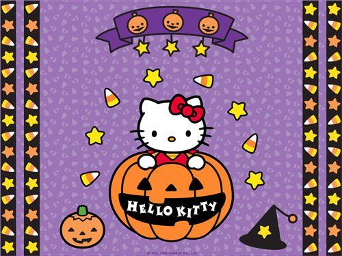 Hello Kitty in a pumpkin wallpaper spotted on kawaiiwallpapers.com