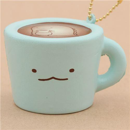 cute blue Sumikkogurashi shy lizard mug squishy charm kawaii