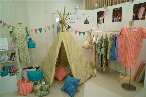 Dresses, bags and a tipi using their fabrics! Doesn't the tipi look amazing?