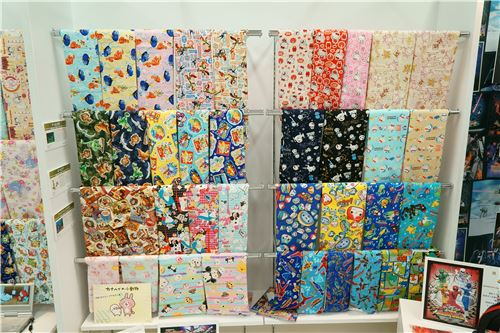 More fun fabrics featuring Disney characters, Hello Kitty, My Melody and others