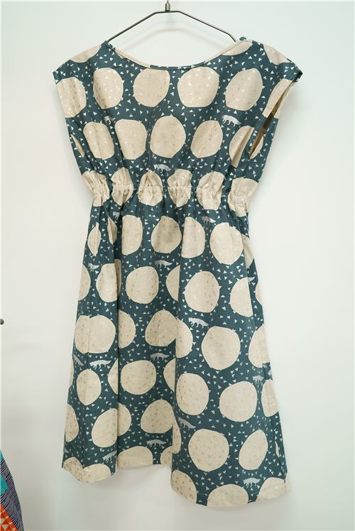 A beautiful dress using an Echino fabric