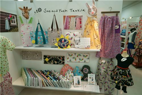 Sas and Yosh Textile items on display