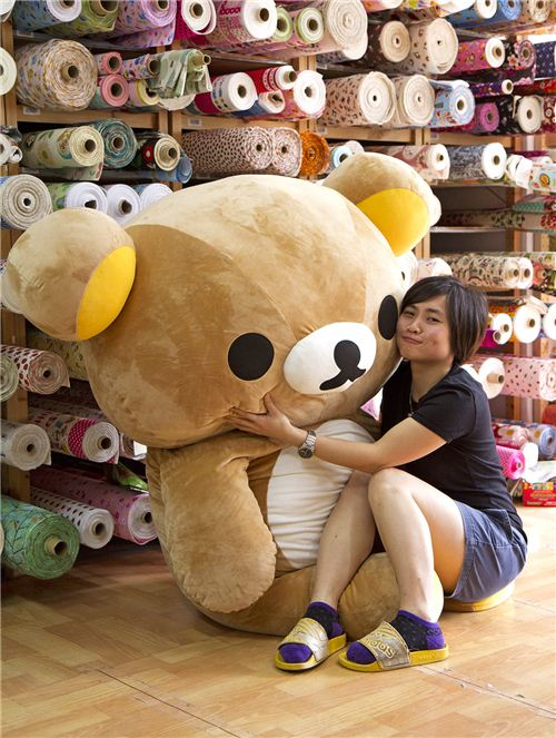 Our office mascot Rilakkuma is really taller than Lok, but she has far more power than the lazy bear