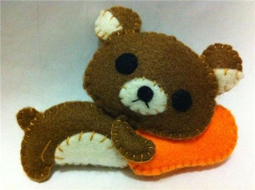 Lok sewed this little Rilakkuma herself